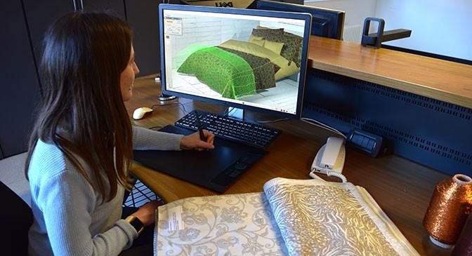 Jacquard Textildesigns - Forschung und Entwicklung